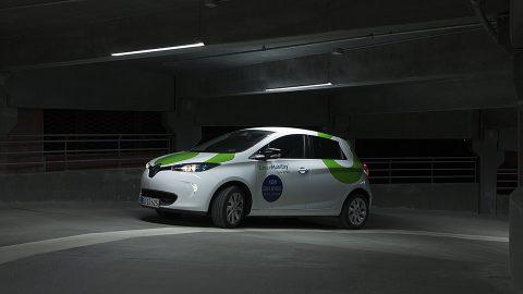 Deelauto GreenMobility. Foto: GreenMobility
