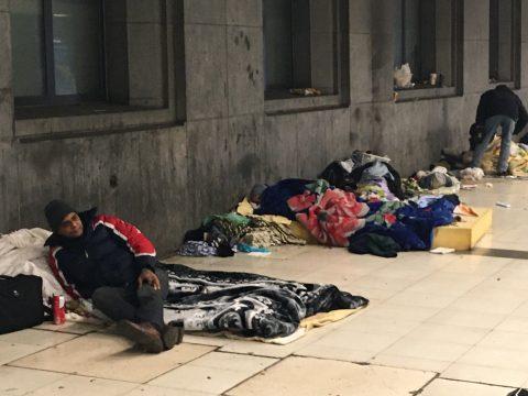 Daklozen aan Brusselse Zuidstation