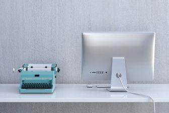 Typemachine en computer