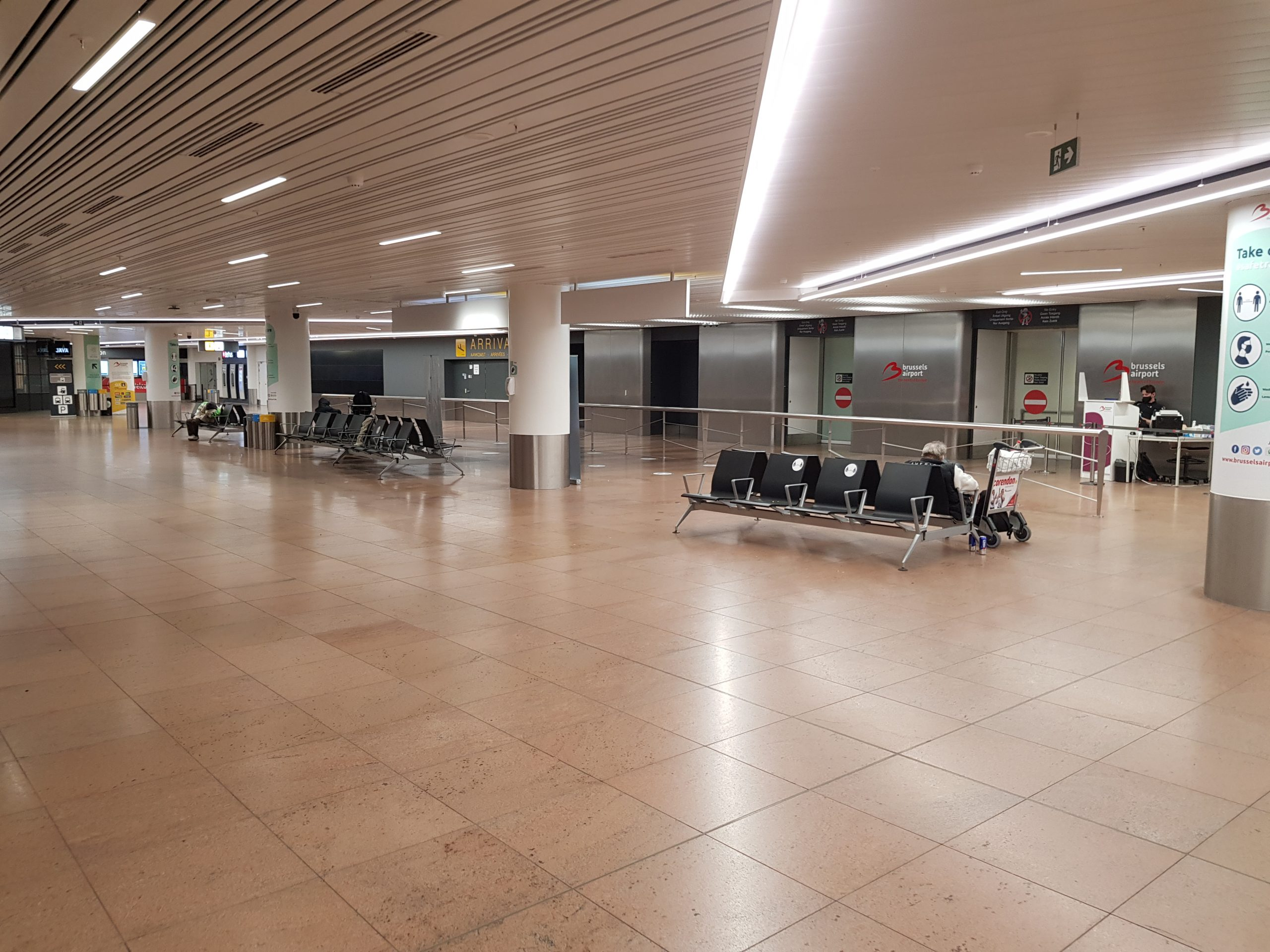 Lege ontvangshallen Brussels Airport Zaventem