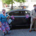 Lucie Mertens uit Leuven voor de 2.555ste in de taxi.