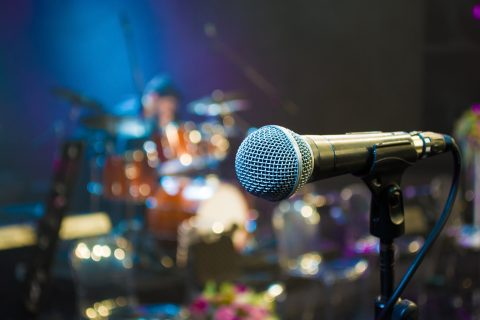 Microfoon, muziek. Foto: iStock / Batuhan Toker