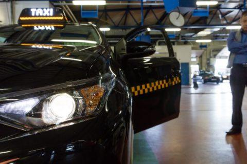 Keuring taxi. Foto: GOCA